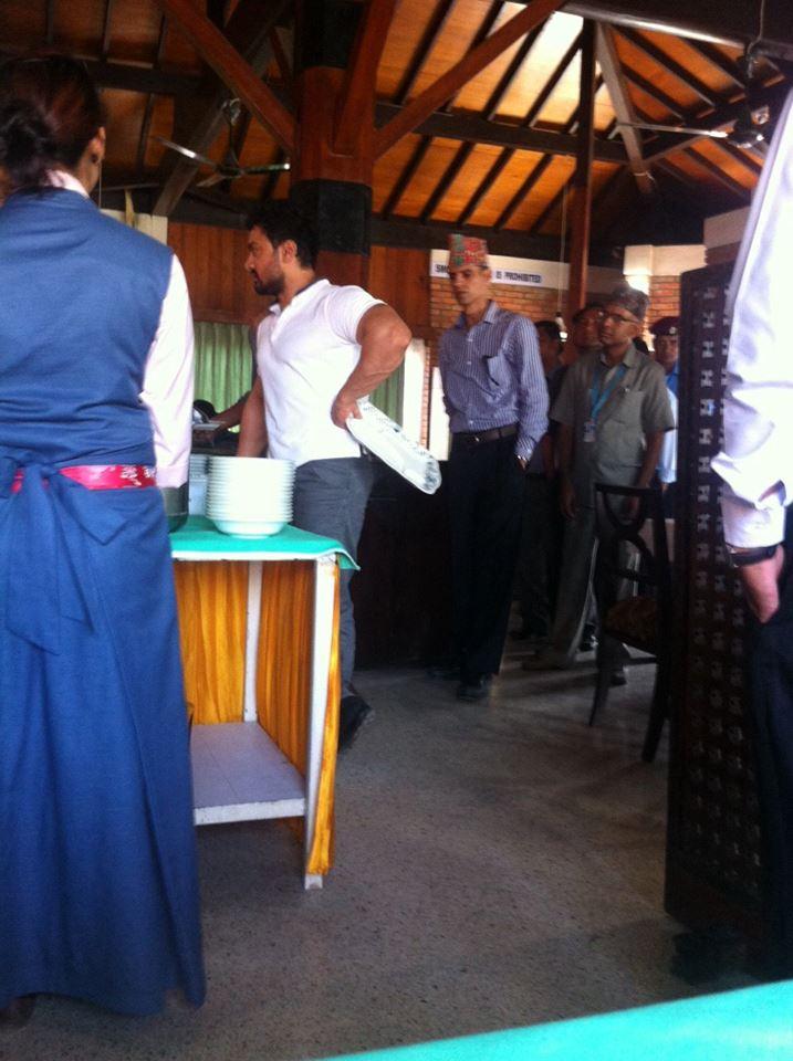 The actor at Lumbini Hokke Hotel