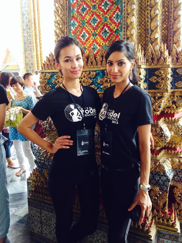 Visiting the Grand Palace in Bangkok.