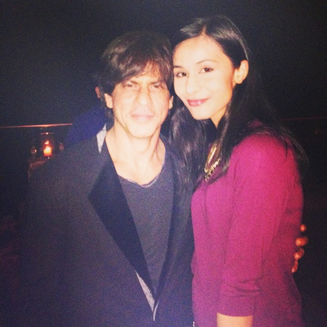 Aastha with Shah Rukh Khan at his residence Mannat.