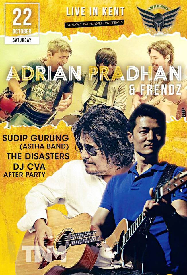 Adrian Pradhan and Frendz in Folkestone