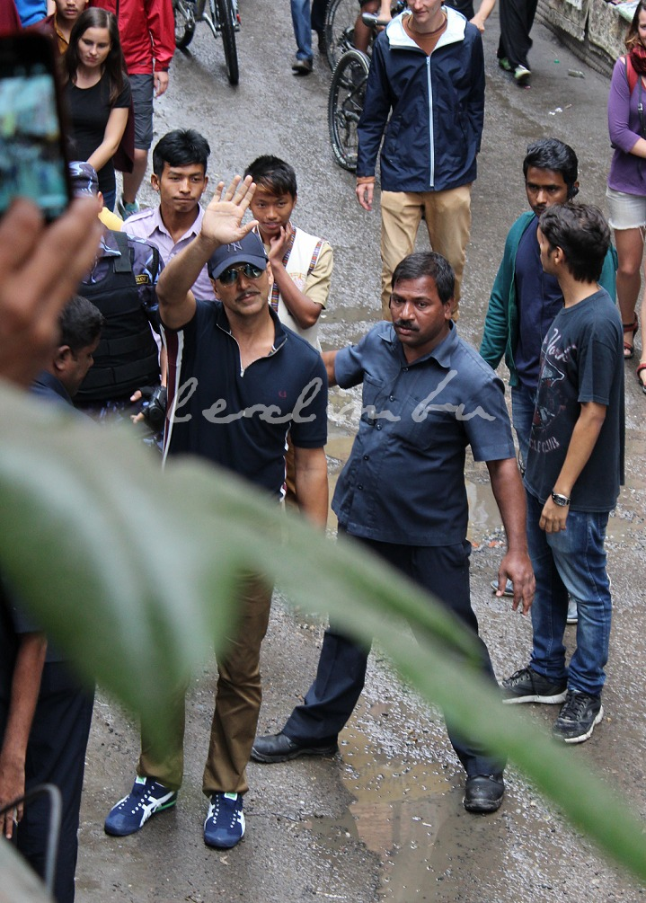 Akshay Kumar in Thamel. Photo by me! Haha!