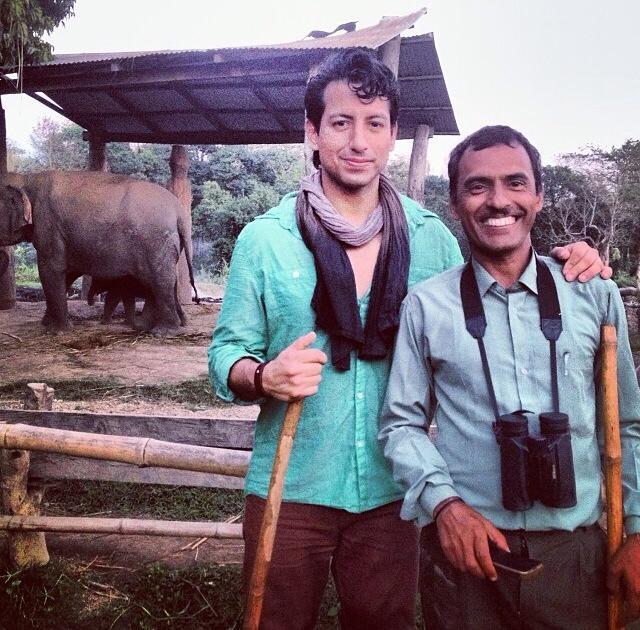 With guide Gopal Chapagain in Chitwan National Park. Instagram: AlexKruz9