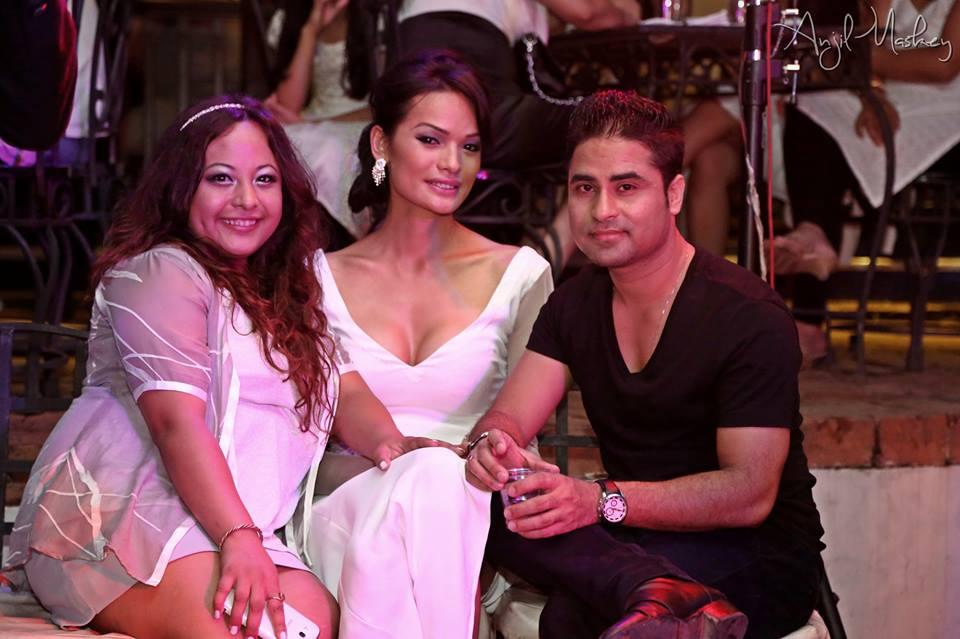 Anjali Lama with Bishwo Gautam and Subexya Bhadel