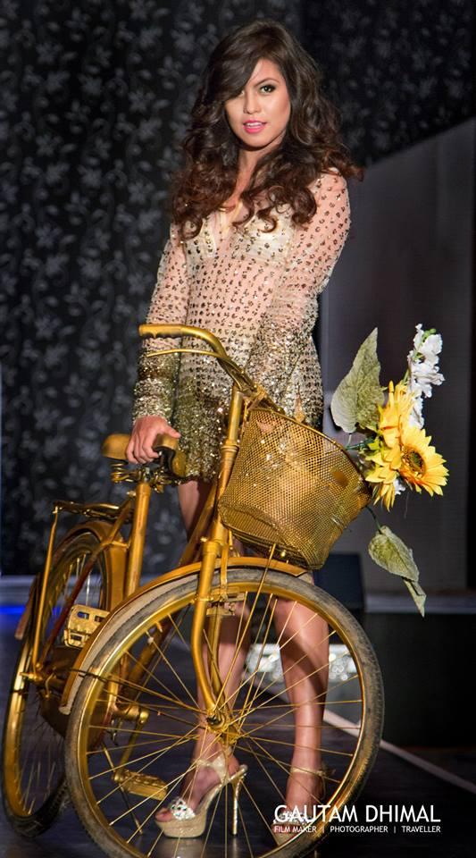 Looking glamorous! Anupama Aura Gurung!