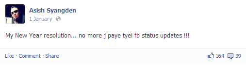 Asish Syangden Status 10