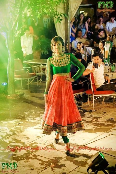 Asmee Shrestha at Johnny Walker's Fashion Gala Promo Show