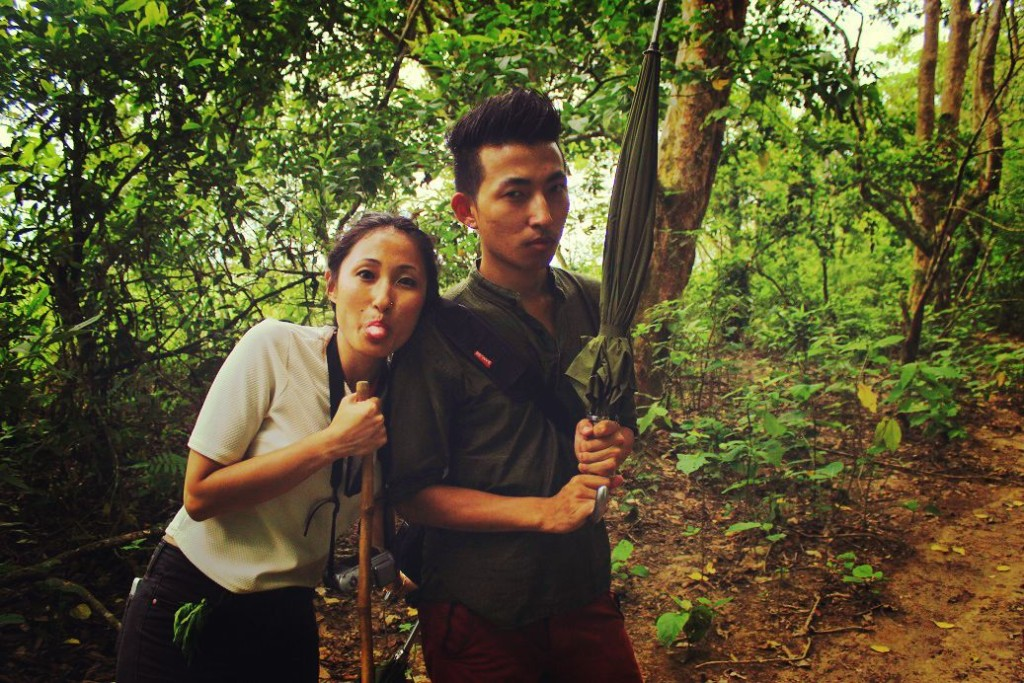 Jinita and me during the jungle walk.