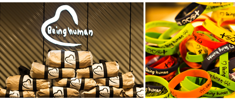 On the opening day, Being Human Clothing Nepal is providing Being Human exclusive (not for sale) bags for the first 10 customers of our store and the first 200 customers will get Being Human Hope Band. _ Being Human Nepal Facebook