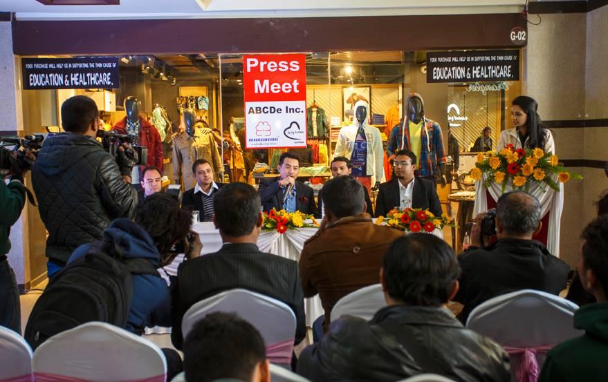 Being Human Nepal M.D. -Mr. Raju Thapa,  ABCDe Inc. (Director)- Mr. Siddhartha Koirala ABCDe Inc. (CMD) - Er. Dipendra Gurung ABCDe Inc. (Director) - Mr. Bibek Bdr. Rawal ABCDe Inc. (Director) - Mr. Nirvik Khanal Media Co-ordinator - Miss Sadichha Shrestha