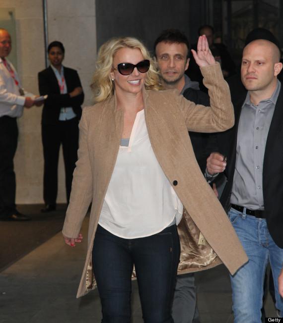 Britney Spears outside BBC Radio 1