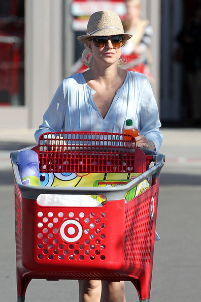 Britney Spears Shopping at Target on Jan 30, 2013