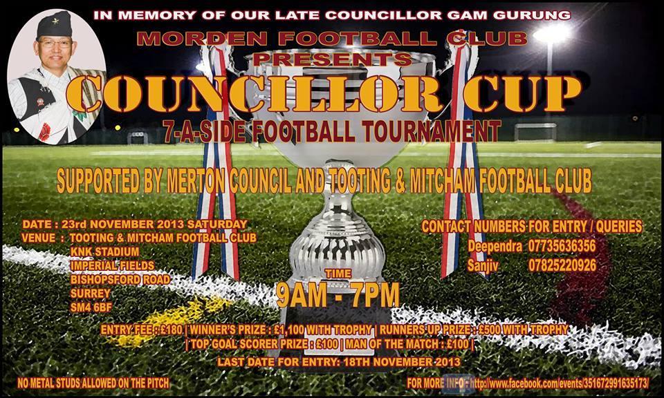 Councillor Cup, 23rd November