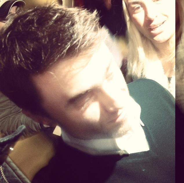 Daniel Radcliffe leaving the building! From my phone!