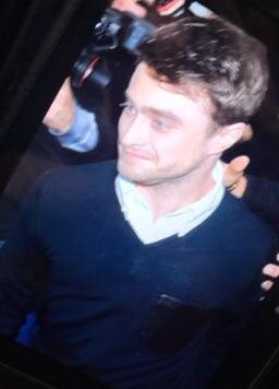 Took a cheeky pic of Daniel Radcliffe from the photographers camera