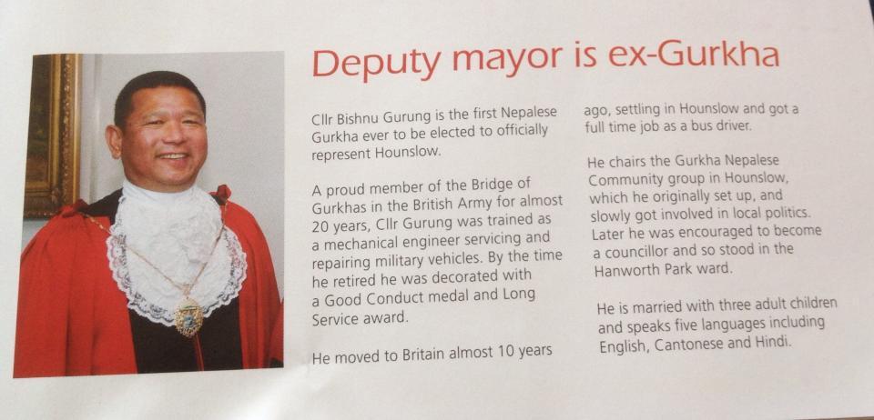 Deputy Mayor Bishnu Gurung