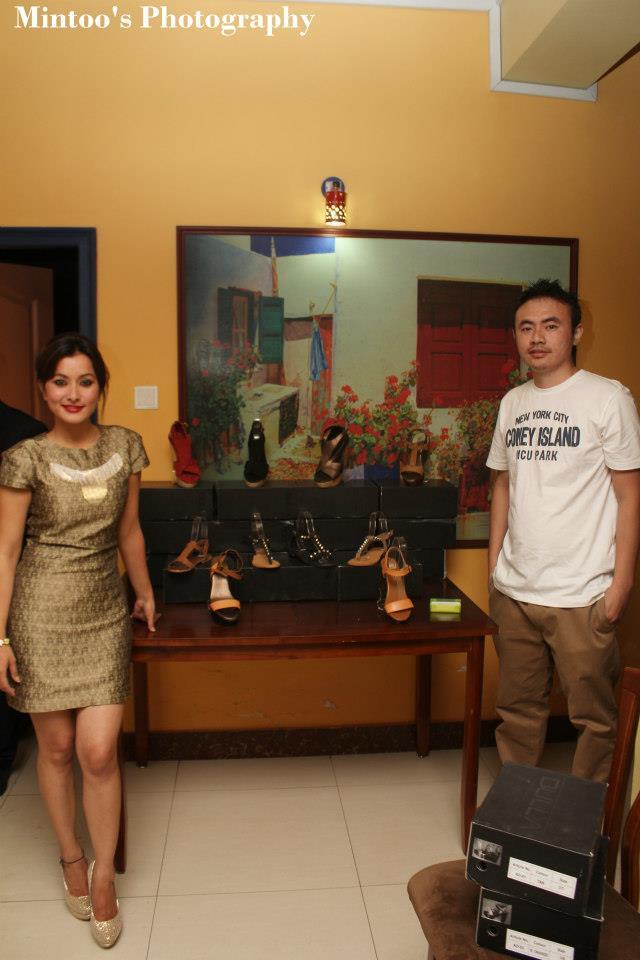 Designer Dulla Ahmed with Namrata Shrestha