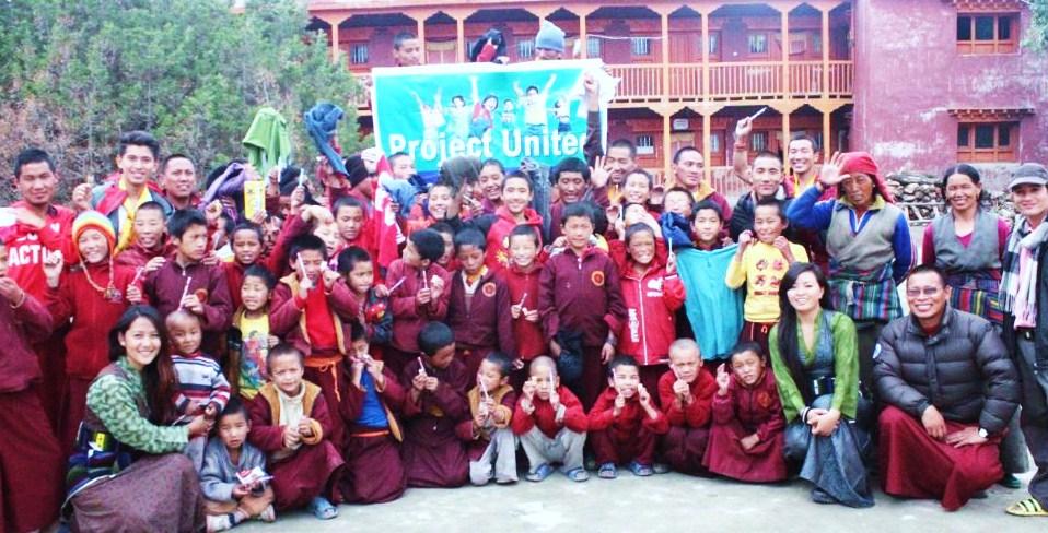 Parika Ale and Neelam Gurung (former Miss UK Nepal runner ups) in Lomanthang Lama School.