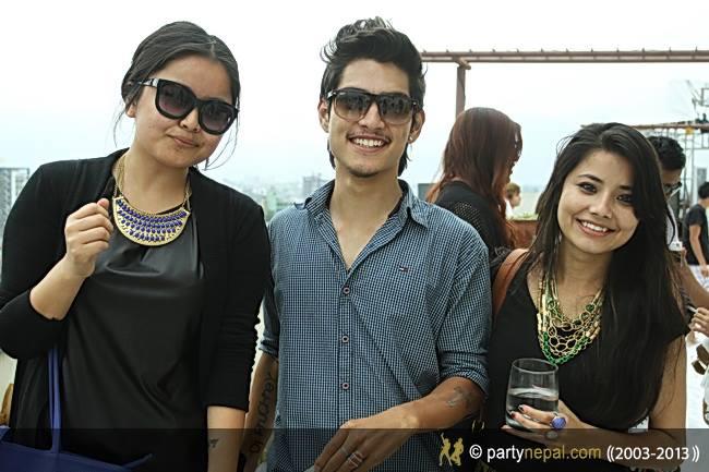 Nikun Shrestha With Friends.