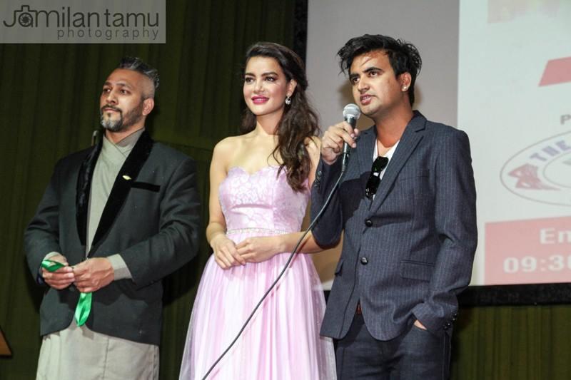 (L-R) Prasant Tamrakar, Shristi Shrestha and Rohit Adhikari