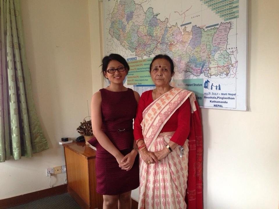 With CNN Hero Anuradha Koirala, Maiti Nepal