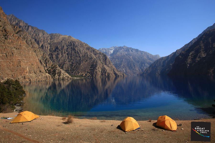 Phoksundo Lake.  Dolpa section of the Great Himalaya Trail.