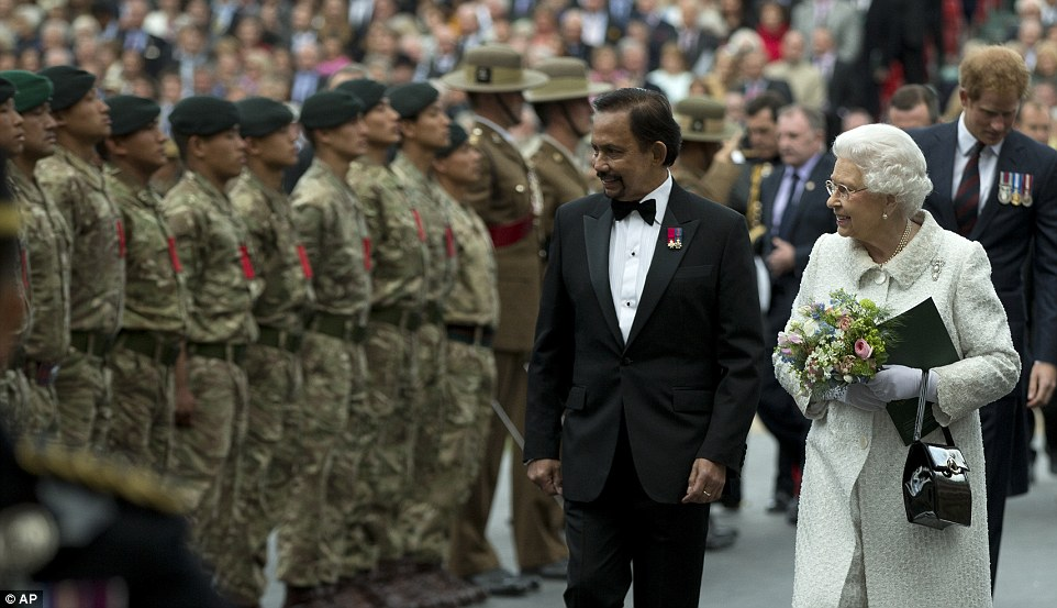 Sultan of Brunei and the Queen