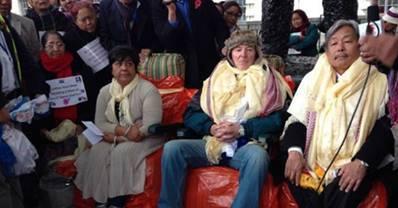 Bobbie Wason, Dr. Tommy Riordon and Gyanraj Rai.