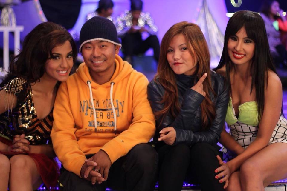 Behind the scenes - Priyanka Karki, director Milan Chams, choreographer Renasha Bantawa Rai and Hema Shrestha