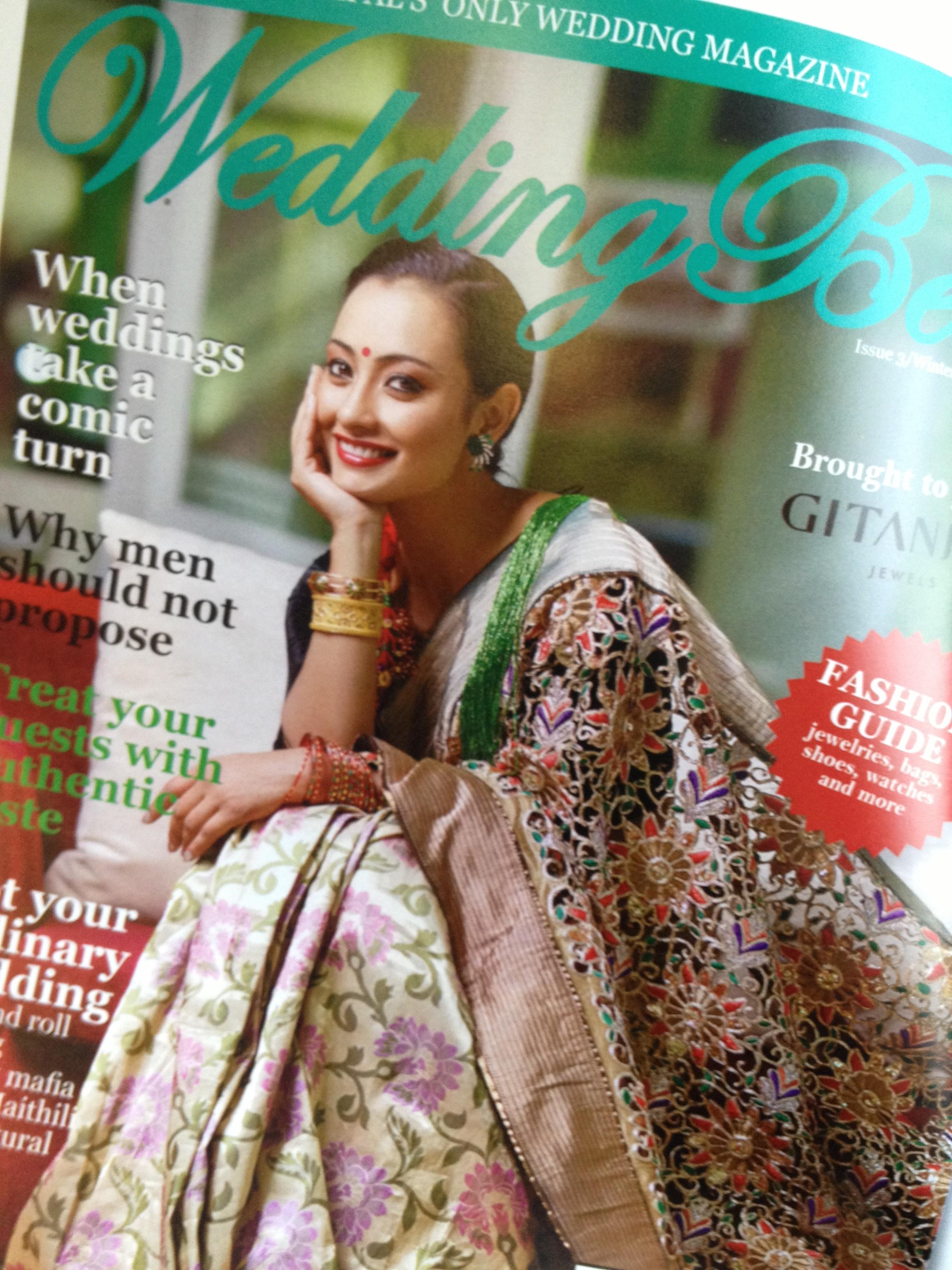 Jharna on December issue of Wedding Bells