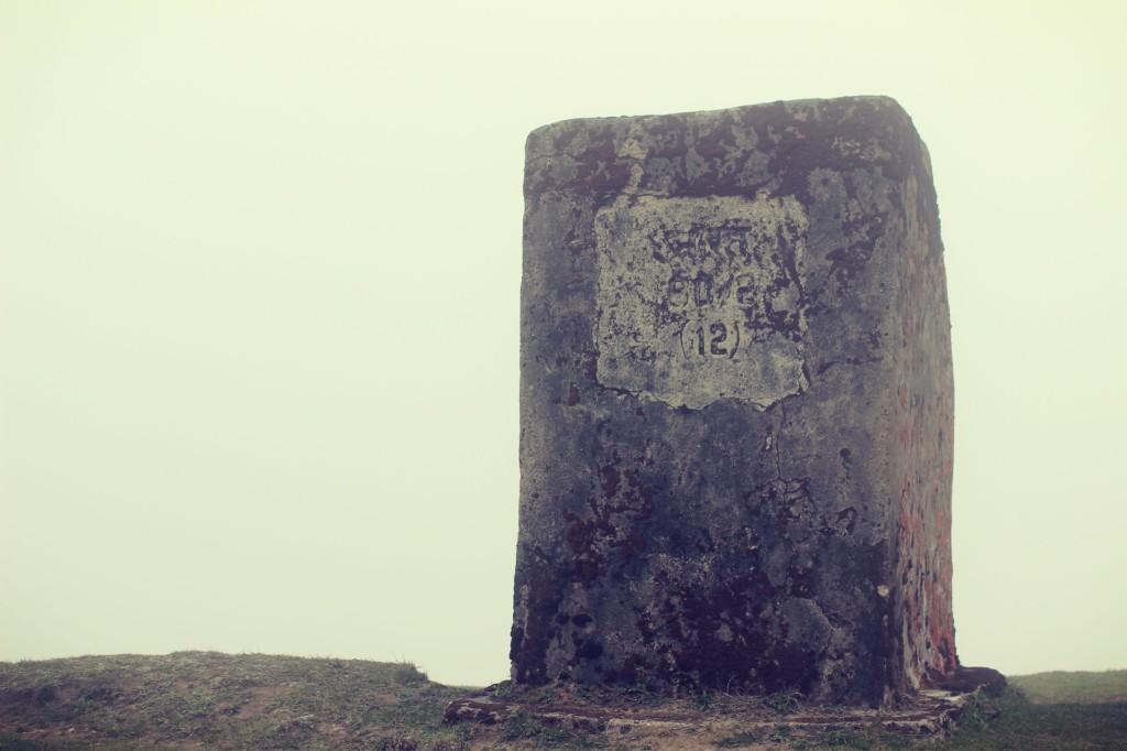 Jumbo Pillar marking the Nepal India border