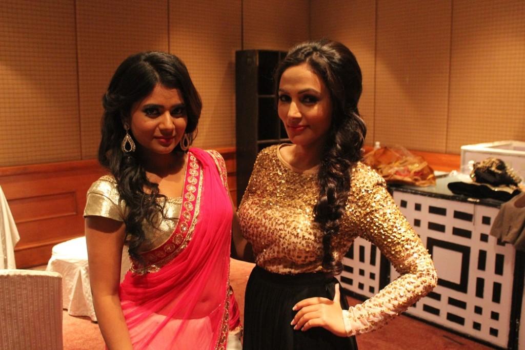 Keki Adhikari and Nandita KC (Backstage)