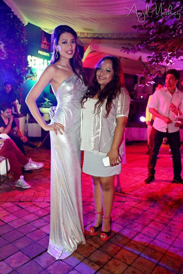 Ishani with designer Subexya Bhadel