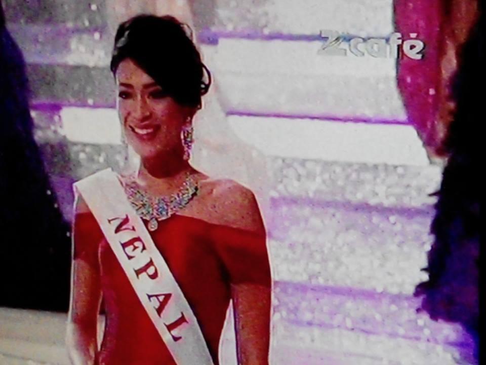 Ishani at Miss World 2013