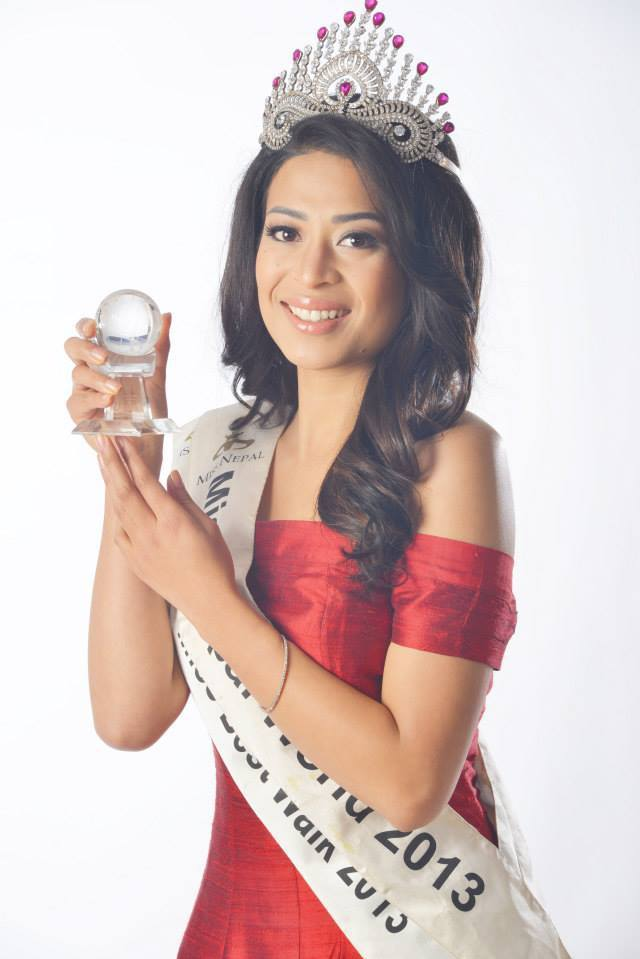 Miss Nepal Ishani Shrestha, Winner of Beauty With a Purpose at Miss World 2013.