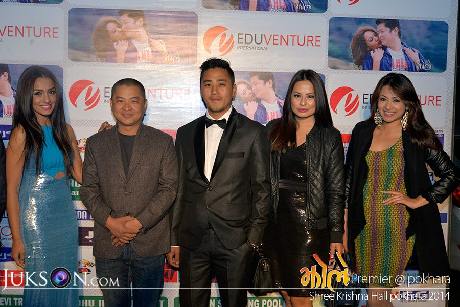 It looks like Priyanka, Dayahang, Malvika and Sahana are posing with THE HERO, haha! The host Ashik Gurung in the centre.