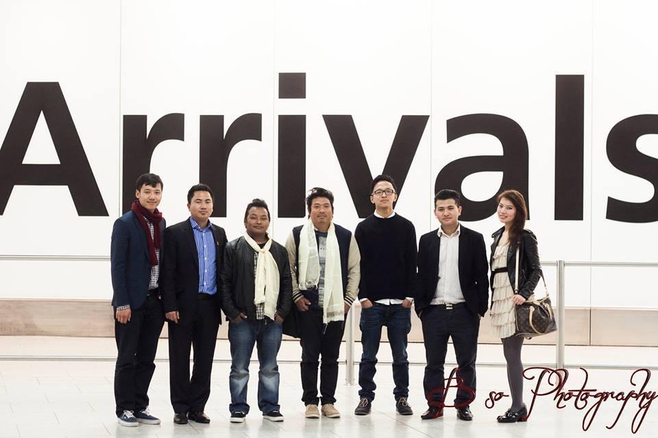 Party UK Nepal Team, Jeewan Gurung, Bishnu Gurung and Miss UK Nepal 2012 Durga Gurung.