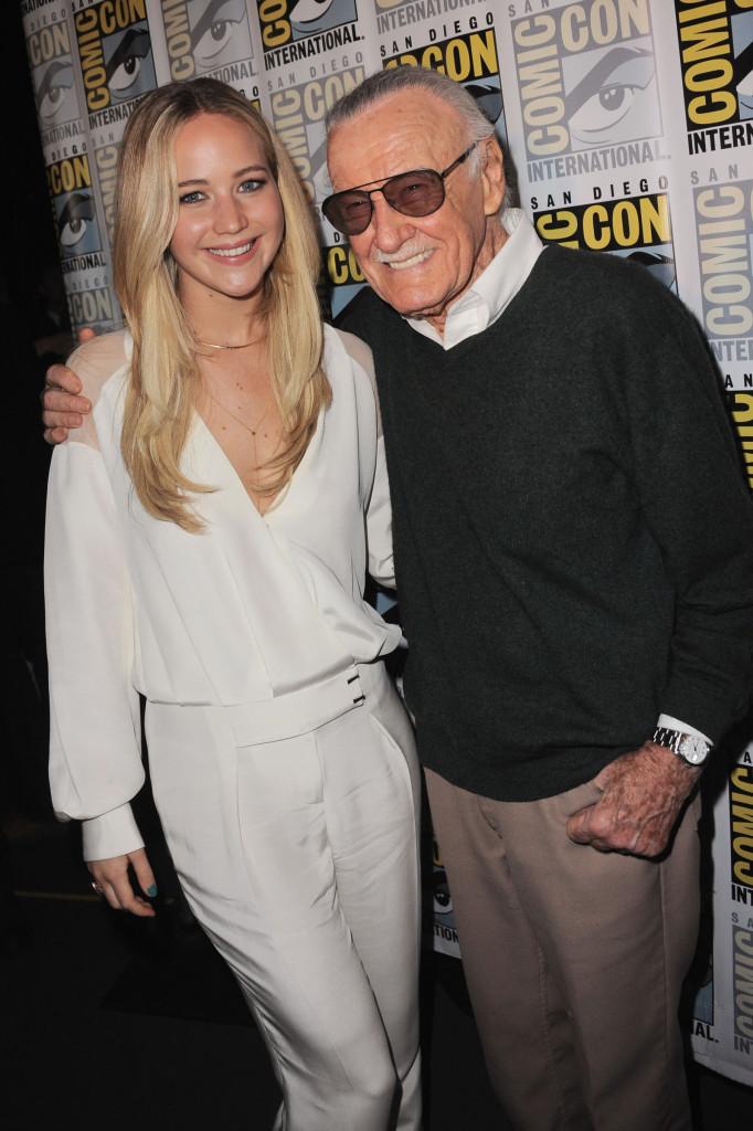 Alongside Stan Lee in a PG jumpsuit.