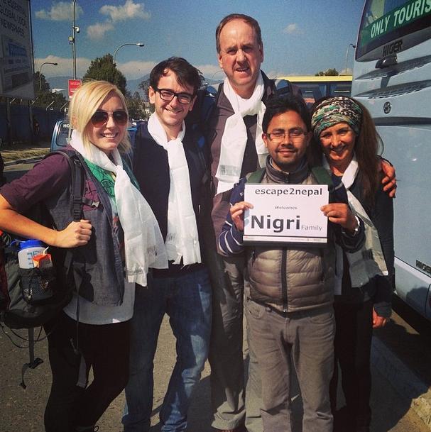 We made it to Nepal! <3 Caption and Photo: Jessica Nigri (Instagram)