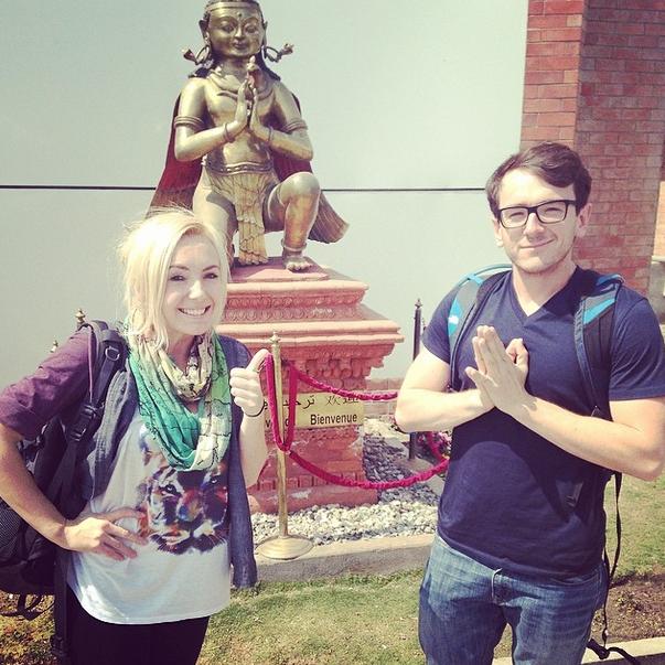 Oh hai there NEPAL! Caption and Photo: Jessica Nigri (Instagram)