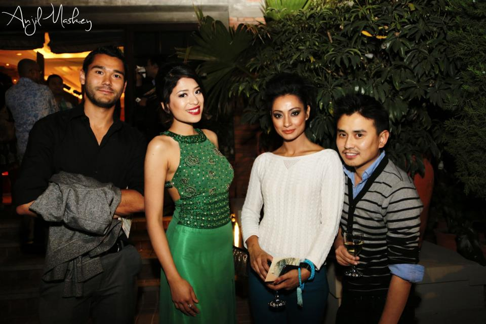With Miss Nepal 2013 Ishani Shrestha and designer Tenzin Tseten Bhutia