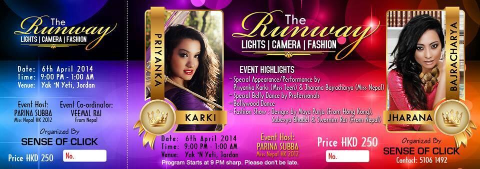 Jharana-Bajracharya-Priyanka-Karki-Hong-Kong-Show-Ticket