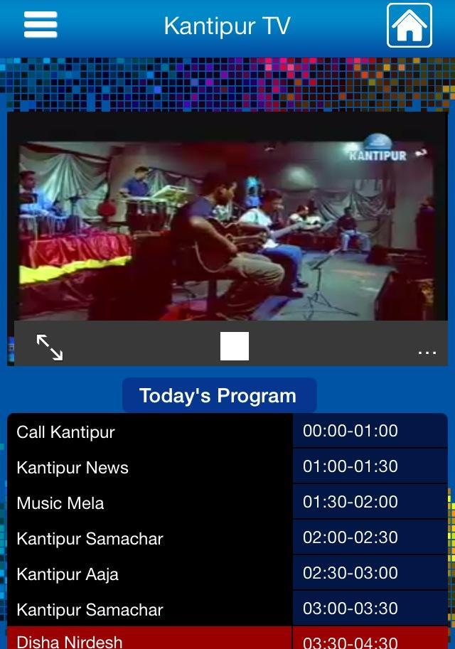 Checking out Kantipur Television.