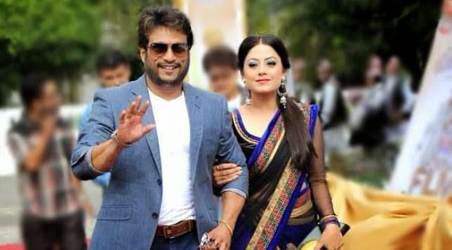 Actor Shree Krishna Shrestha with actress wife Shweta Khadka