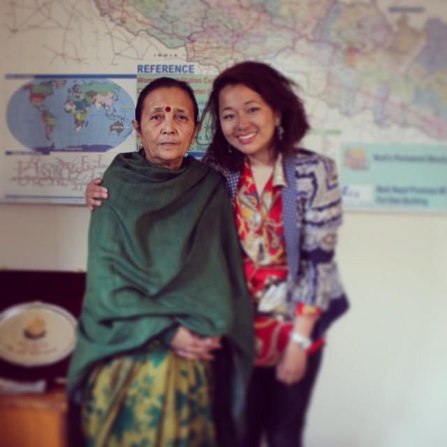 Laxcha with Anuradha Koirala