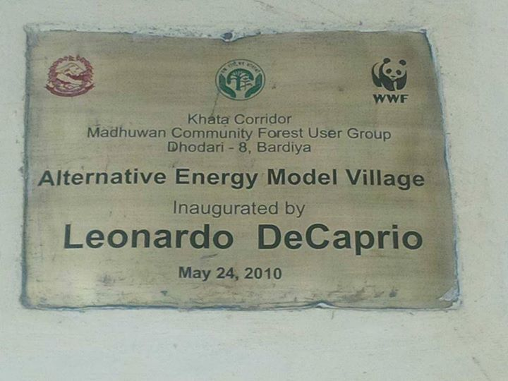 Inaugurated by Leonardo DiCaprio (Awkward spelling error) - Photo by  Ugan Manandhar