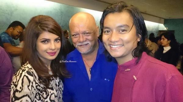 Priyanka Chopra, Sunil Thapa and his son Anmol Thapa
