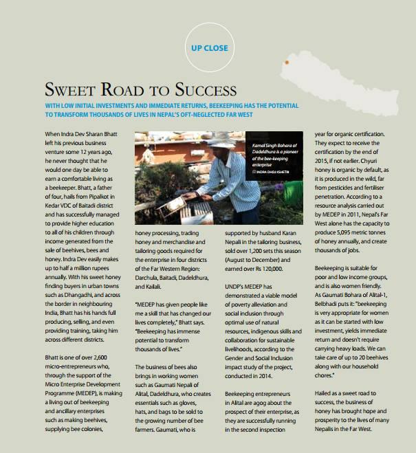 MEDEP-Lexlimbu-Article-UNDP-Annual-Report
