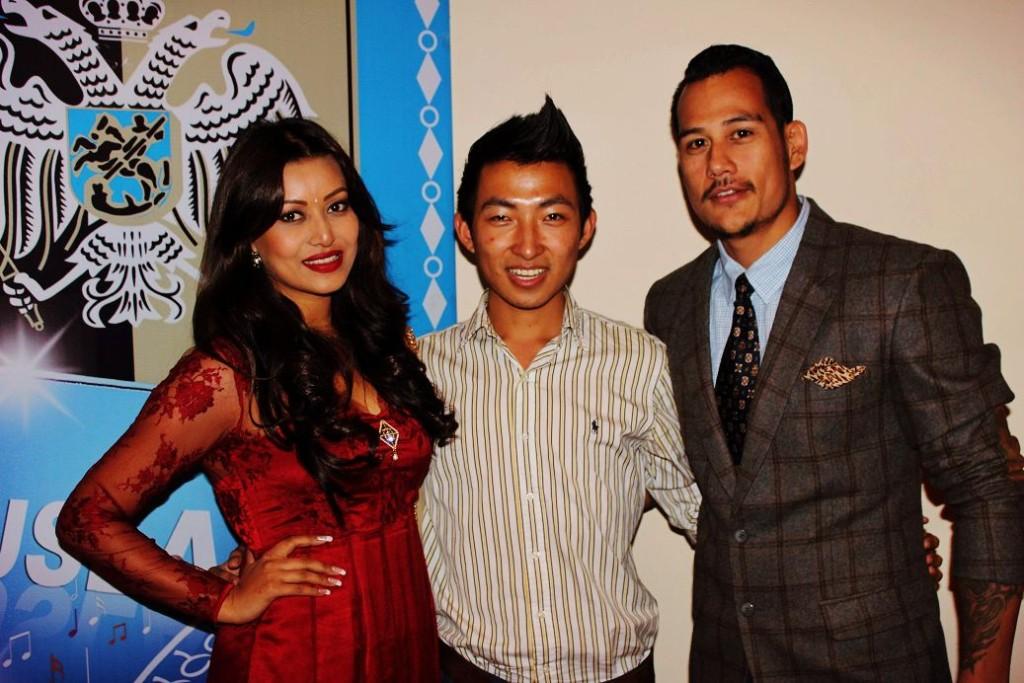 With Malina and Anoop Bikram Shahi