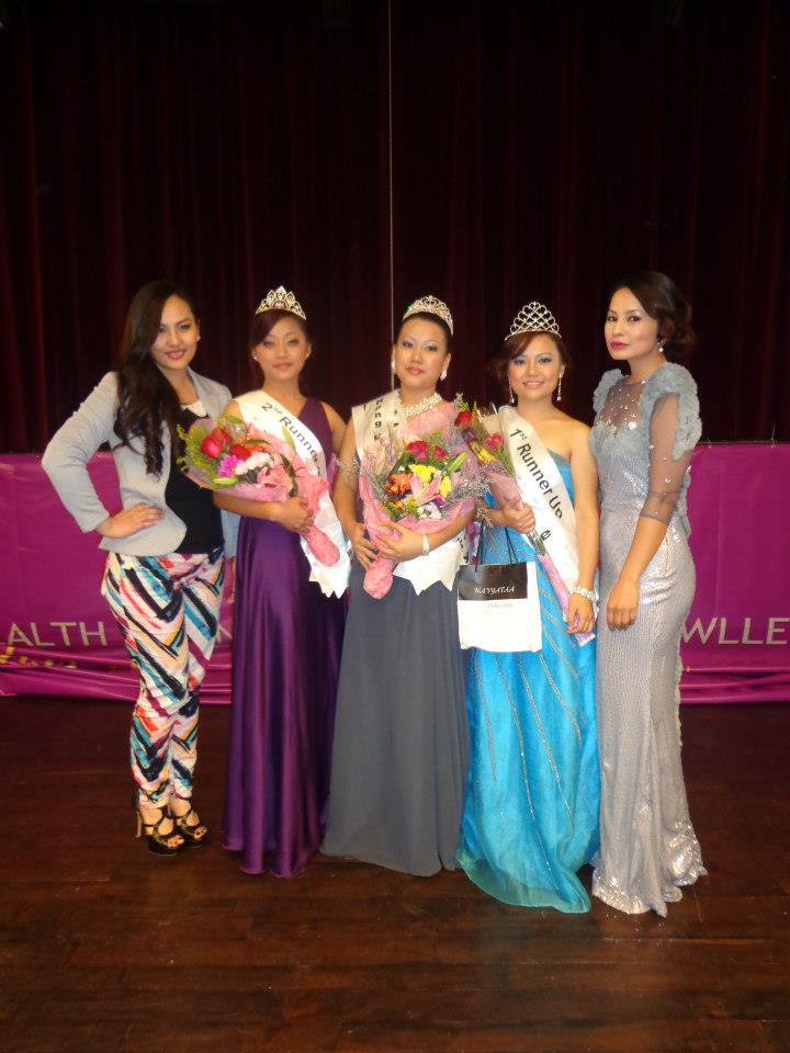 The winners with Malvika and Zenisha