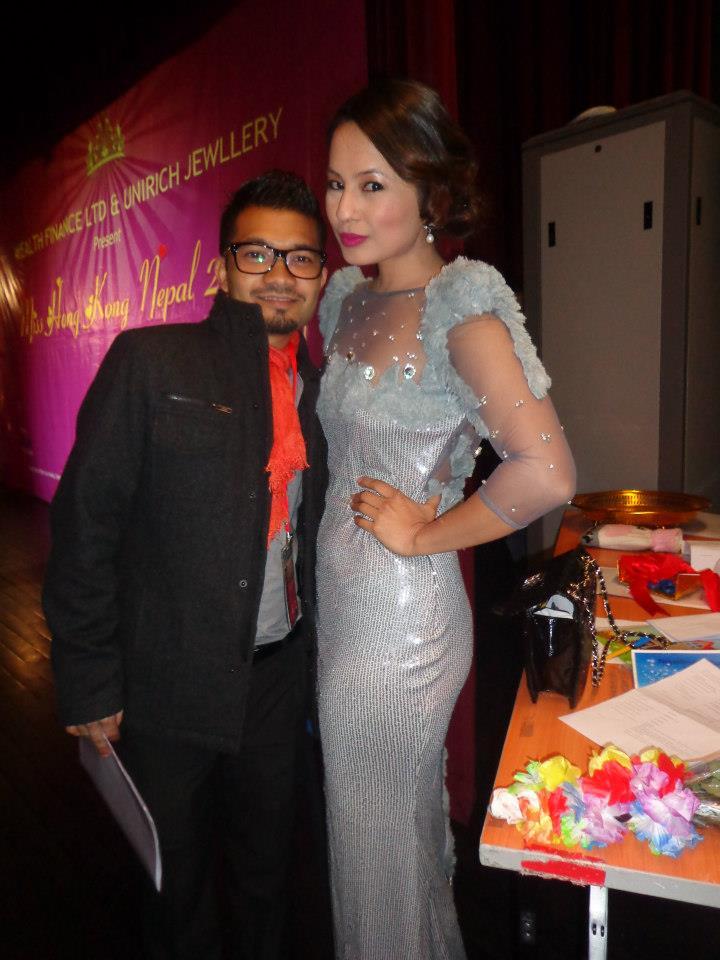 Malvika alongside co-host Pradeep Malibul